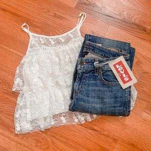 F21 Vintage Vibes White Top